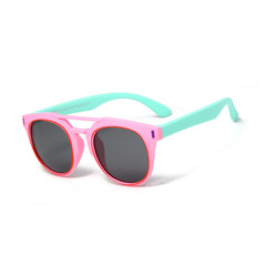 New Polarized Kids Sunglasses Boys Girls Baby Infant Fashion Sun Glasses pink one size