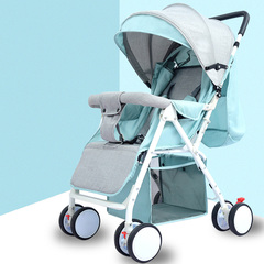 Sales Portable foldable stroller for sitting or lying down High-end strlloers for Newborn 57%OFF green 67*67*93cm