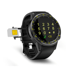 Bluetooth GPS Smart Watch with Camera SIM Card Sport Phone Watch  For Android IOS Phone Black 26.8cm*4.8cm