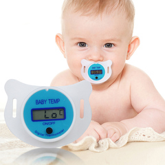 Baby Nipple Thermometer Medical Silicone Pacifier LCD Digital Children's Thermometer Health Safety blue 6cm*4.2cm