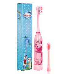 Children aged 3-12 Years Cartoon Electric Toothbrush Oral Hygiene Teeth Care Tooth Battery Power Pink one size