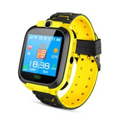 Sale Children's Smart Watch With Sim Card Photo Waterproof IP67 Kids New Gift GPS Positioning orange 3.5*4.2*1.5cm