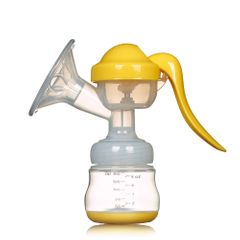 Manual Breast Pump Powerful Baby Nipple Suction 150ml Milk Bottles Sucking Postpartum Supplies yellow 150ml