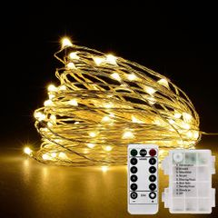 Fairy Lights 100LED String Lights Remote Control Timer Twinkle String Lights 8 Modes warm white Remote light string 10m 100Led