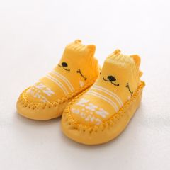 Infant First Walkers Leather Baby Shoes Cotton Newborn Toddler Shoes Soft Sole Seasons for Baby Yellow 13CM(13-18Months)