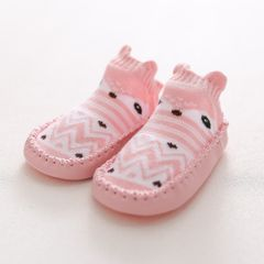 Infant First Walkers Leather Baby Shoes Cotton Newborn Toddler Shoes Soft Sole Seasons for Baby Pink 12CM(7-12Months)