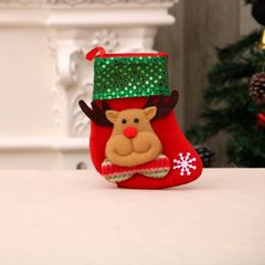 Christmas Tree Hanging Party Tree Xmas Decor Santa Stocking Sock Gift Candy Bags Lovely Gift Bag #2 Small