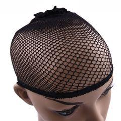 New Stretchable Elastic Hair Nets Snood Wig Cap Cool Mesh Cosplay Wig FishHairnet Black universal