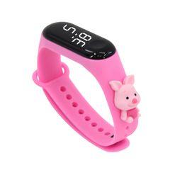 Fashion Bracelet Watch for Kids Girls Boys Sport Electronic Wristwatch LED Waterproof Digital Clock Pink one size