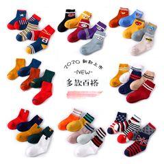 5Pairs Baby socks rubber anti slip floor cartoon kids Toddlers autumn spring Fashion newborn random color boy 1-3 years