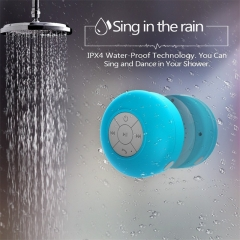 Subwoofer Mini Waterproof Wireless Bluetooth Handsfree Suction Speaker For Shower Sauna Car Phone blue one size