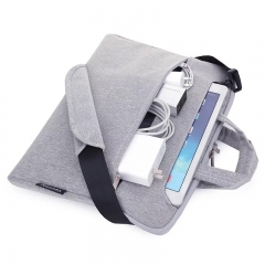 Laptop Bag 11.6 13.3 15.4inch Laptop Sleeve Cover Shoulder Carry Bag For Macbook Air Pro&Other Brand Grey 15.4inch