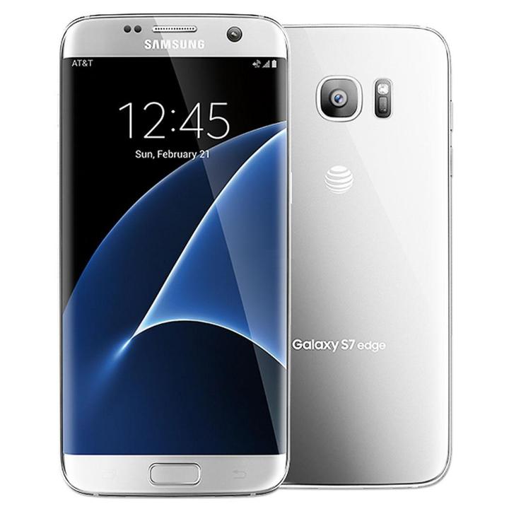 Samsung Galaxy S7 EDGE 12MP- 5.5Inch Curve screen +4GB RAM Certified product fingerprint  32gb silver 32gb
