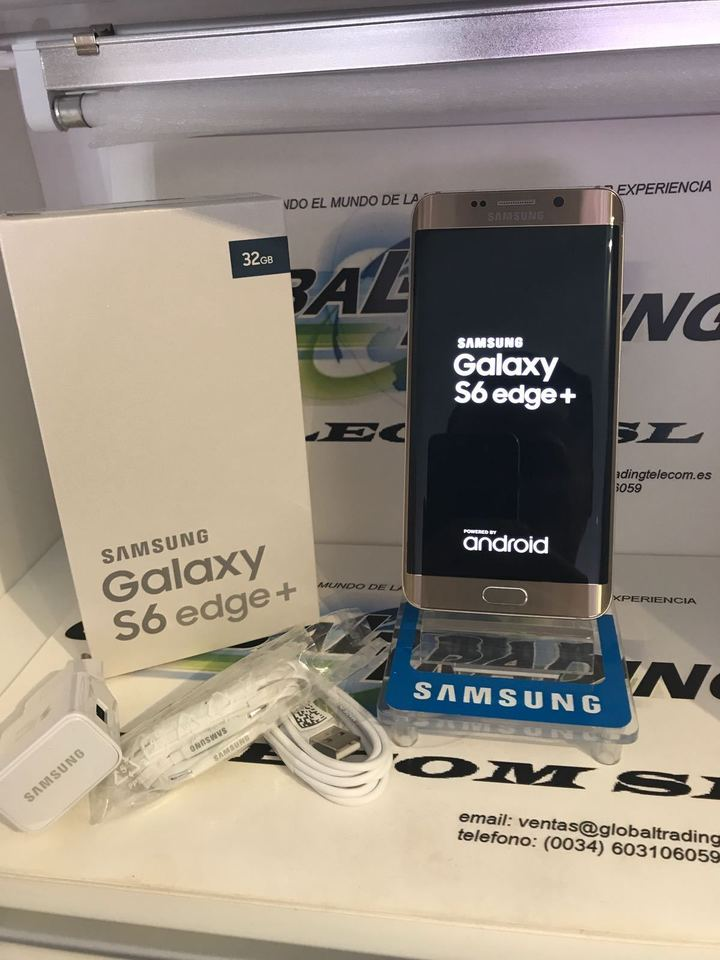 Samsung Galaxy S6 EDGE plus  16MP+5MP- 5.7Inch Curve screen +3 nuclear Certified product fingerprint gold 32gb