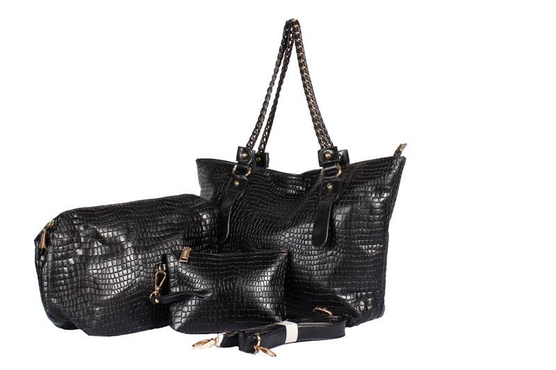 5ac1255614e8 BLACK COLORSMITH THREE IN ONE HANDBAG Black  Product No  8966. Item  specifics  Brand