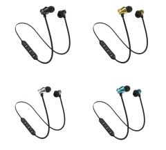 XT-11 Bluetooth Headphones Magnetic Sports Music 4.2 In-Ear Gift Bluetooth Headset silver one size