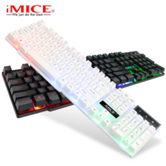 Illuminated gaming keyboard computer keyboard AK600 wired USB backlight floating keycap white one size