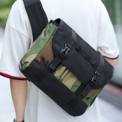COMFUBE BAGS Messenger Shoulder Bags Men Fashion Casual Travel Crossbody Bags Camouflage 14inch