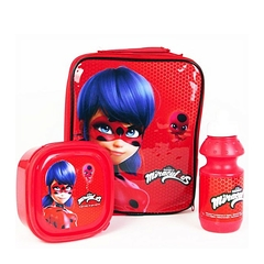 3 piece Lunch Box Set Miraculous