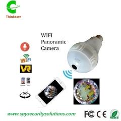 wireless panoramic wifi IP VR hidden lamp light bulb camera 960P 360 degree home cctv surveillance white camera+32gb