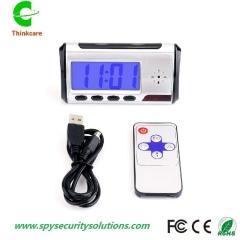 security cctv table desk alarm hidden spy camera clock dvr remote control  video recorder one color 0 gb