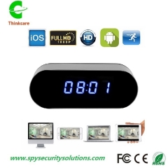 onvif HD 1080p table wifi hidden spy camera clock dvr night vision sd card video recorder black 0 gb