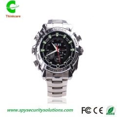 hd 1920*1080P wrist hidden spy watch camera ir night vision waterproof mini nanny dv camdorder DVR one color 8gb