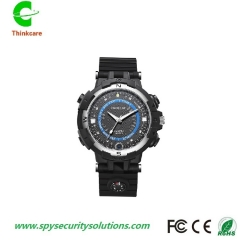 hd 720P 8G wifi wireless smart wrist hidden spy watch camera waterproof mini dv camdorder DVR black+blue 8gb