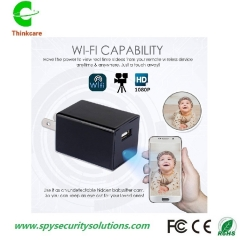 hd 1080p wifi wireless wall phone usb charger hidden spy camera no hole nanny camcorder dvr recorder eu plug 0 gb