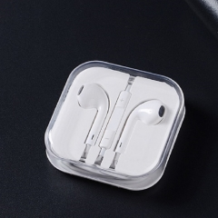 Apple android universal apple headset earphone Gift white one size white