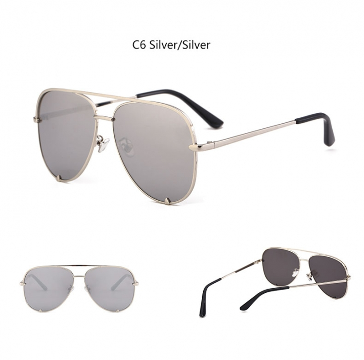 476dbce33b 2018 sunglasses silver mirror metal designer pilot sunglasses women men  shades top fashion silver silver 1