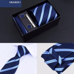 Neckties Sets for Business Wedding within Tie Clip Pocket Square Handkerchief  Cuff link Cufflinks 8001 One Size