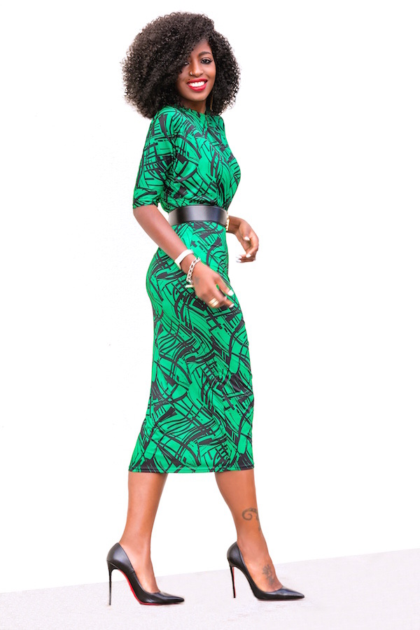 bb6979a312b Cool Dress Retro Cocktail Pencil Office Bodycon Dresses with Sashes  Business Wear Going Out l green