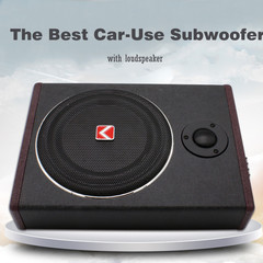 High Performance Powerful 8inch 12V 600W Subwoofer Car-use Auto Under-seat Amplifier Music Reference