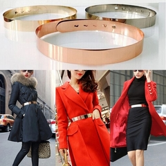 Star Style Belt Women Bling Bling Metal Adjustable Buckle for Dresses Accessory