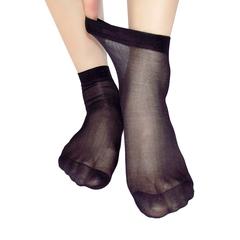 Transparent Women Velvet Socks Thin Silk Storking black free size