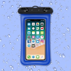Universal Waterproof Cellphone Pouch for 6'' Phone Dry Bag Swimming Purple IPX68 TPU as shown with strap