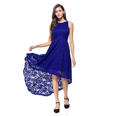 Floral Maxi Hollow Out Lace Dresses Formal Summer Party Weeding Evening Dress s plus size blue