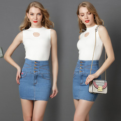 Embroidered Denim Shorts Jeans Skirts for Women Slim High Waist  Amazon Hot Sale Cowvboy Dresses Light-Blue S for about 45kgs