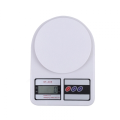 Mini Electronic Scale Kitchen Weighing Family Baking Table Scale Accurate Gram Scale 5Kg*1g White One Size