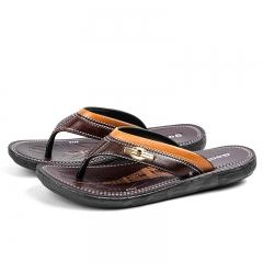Men's Flip-Flops Leisure Clip Feet Beach Cool Drag Summer Brown 41