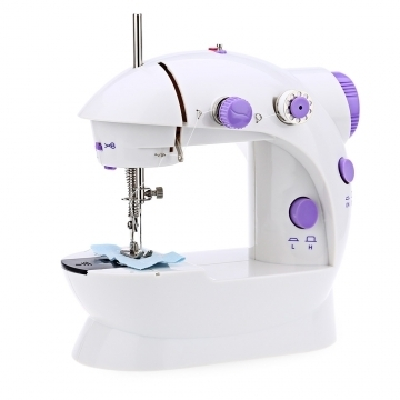 Mini Sewing Machines Double Speed Portable Hand Foot Pedal Electric Sewing Machine UK standard +10 gifts
