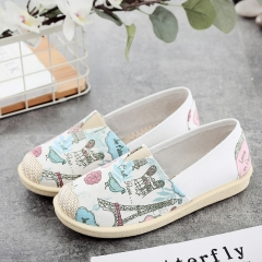 Womens Wear-Resistant Cloth Shoes Maternity Shoes One Foot Pedal Lazy Loafers Blue 35