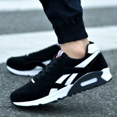 Men's Running Shoes Men's Running Shoes Men's Shoes Autumn Breathable Air Cushion Shoes Black2 42