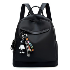 Backpack Women's Casual Fashion Backpack Simple Hand Bill Lading Shoulder Dual Purpose Travel Bags Black 30cm*30cm*12cm