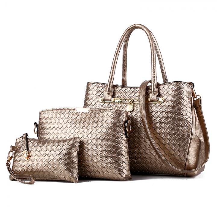 ccd4d2f3b5 Women Bag 3PCS Set 5 colors Classic Fashion Handbag Purse Ladies PU Leather  Temperament bags