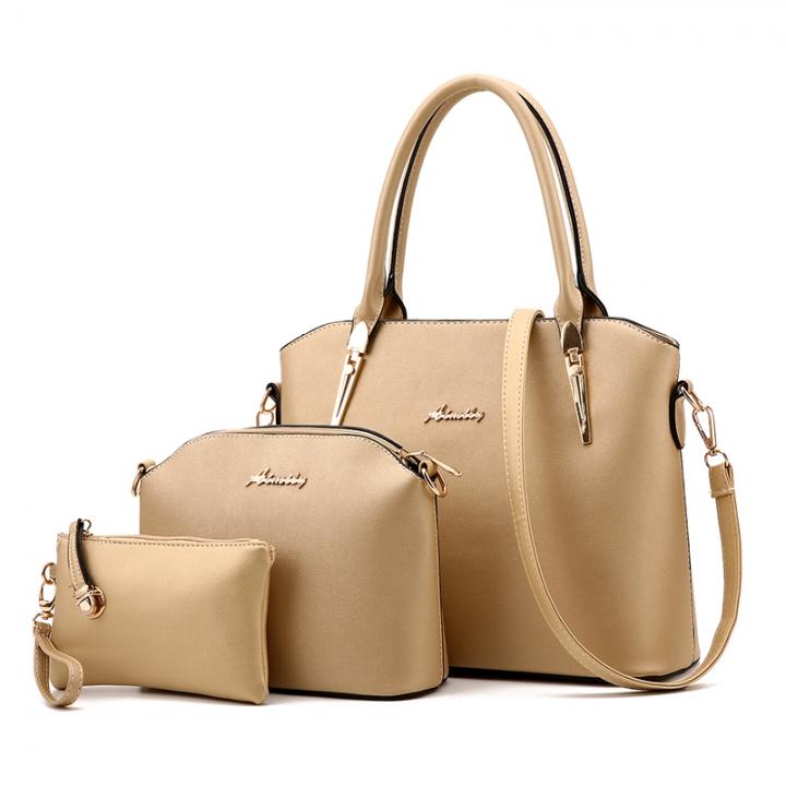 3e429c4b3f ChaoFan 3 Pcs Set new bags women fashion Handbags 5 colors PU Leather Tote  Bag