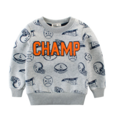 2018 New Fashion Children Sweater for Autumn and Winter Children's autumn Clothes Long sleeved Gray 90cm