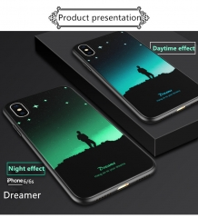 "New light painted soft-shell iPhone 6 phone case black""Dream chaser"" iphone6/6s"