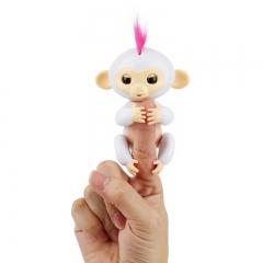 Finger monkey child toy electronic intelligent colorful finger monkey white 7cmX8cmX16cm